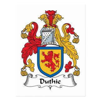 Escudo de la familia de Duthie Postal