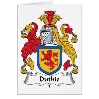 Escudo de la familia de Duthie Tarjeta De Felicitación