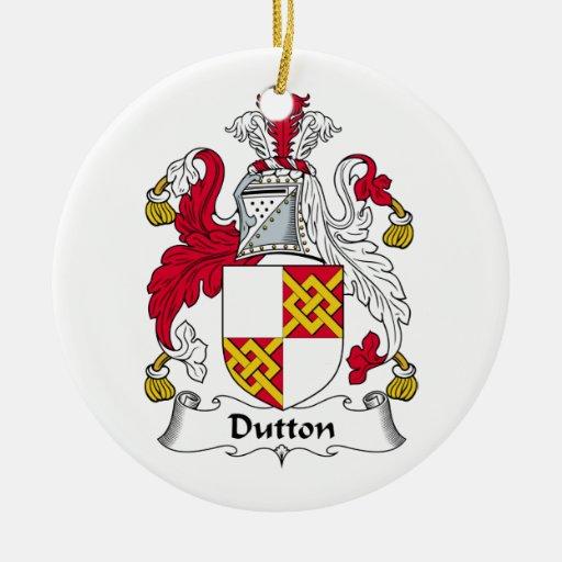 Escudo de la familia de Dutton Adorno De Navidad