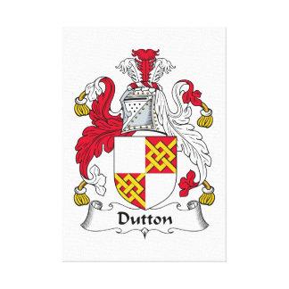 Escudo de la familia de Dutton Impresión De Lienzo