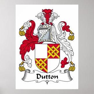 Escudo de la familia de Dutton Posters