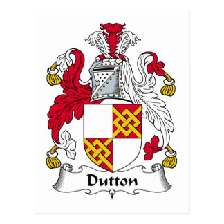 Escudo de la familia de Dutton Tarjetas Postales