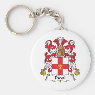 Escudo de la familia de Duval Llaveros
