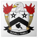 Escudo de la familia de Duvall Azulejos Ceramicos