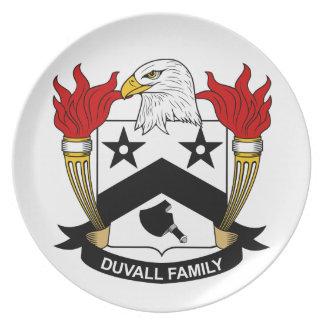 Escudo de la familia de Duvall Plato De Cena