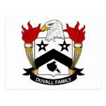 Escudo de la familia de Duvall Postal
