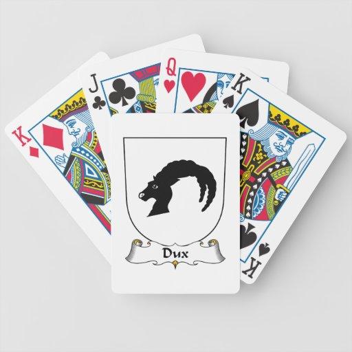 Escudo de la familia de Dux Baraja Cartas De Poker