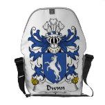 Escudo de la familia de Dwnn Bolsa De Mensajería