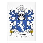 Escudo de la familia de Dwnn Invitación