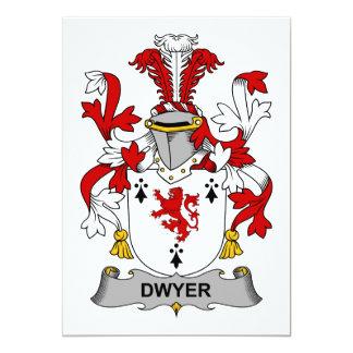 """Escudo de la familia de Dwyer Invitación 5"""" X 7"""""""