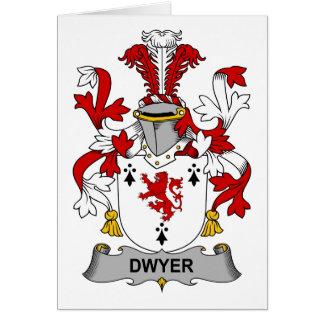 Escudo de la familia de Dwyer Tarjeta De Felicitación