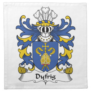 Escudo de la familia de Dyfrig Servilletas De Papel