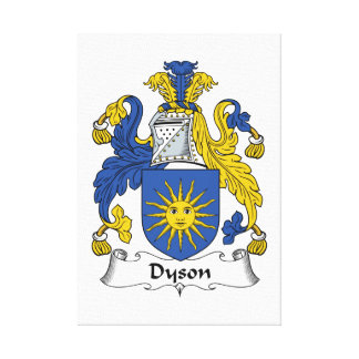 Escudo de la familia de Dyson Lienzo Envuelto Para Galerías