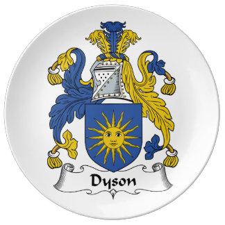 Escudo de la familia de Dyson Plato De Cerámica