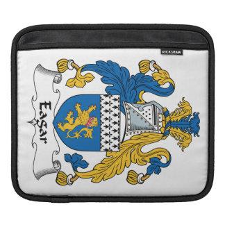 Escudo de la familia de Eagar Funda Para iPads