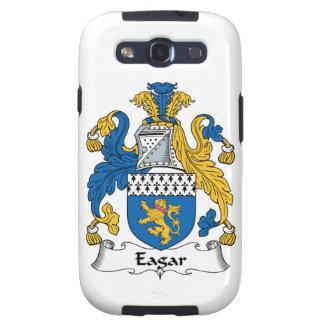 Escudo de la familia de Eagar Galaxy S3 Protector