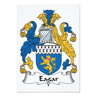 """Escudo de la familia de Eagar Invitación 5"""" X 7"""""""