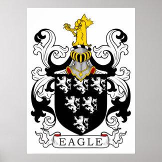 Escudo de la familia de Eagle Póster