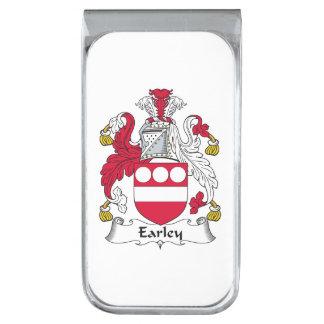 Escudo de la familia de Earley Clip Para Billetes Plateado