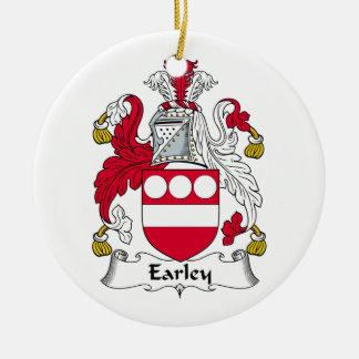 Escudo de la familia de Earley Ornamentos Para Reyes Magos