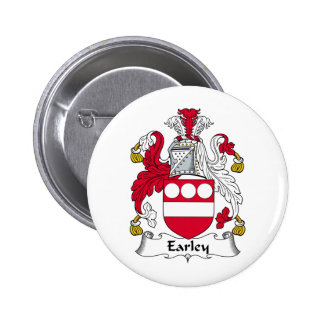 Escudo de la familia de Earley Pin Redondo 5 Cm