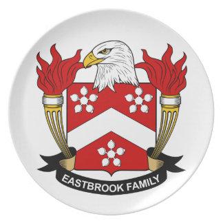 Escudo de la familia de Eastbrook Plato De Cena