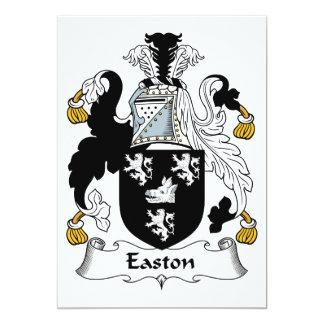 """Escudo de la familia de Easton Invitación 5"""" X 7"""""""