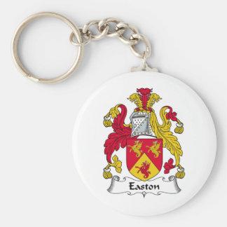 Escudo de la familia de Easton Llavero Redondo Tipo Pin