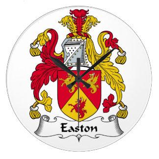 Escudo de la familia de Easton Reloj Redondo Grande
