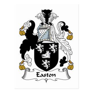 Escudo de la familia de Easton Tarjetas Postales