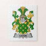 Escudo de la familia de Eaton Rompecabezas Con Fotos