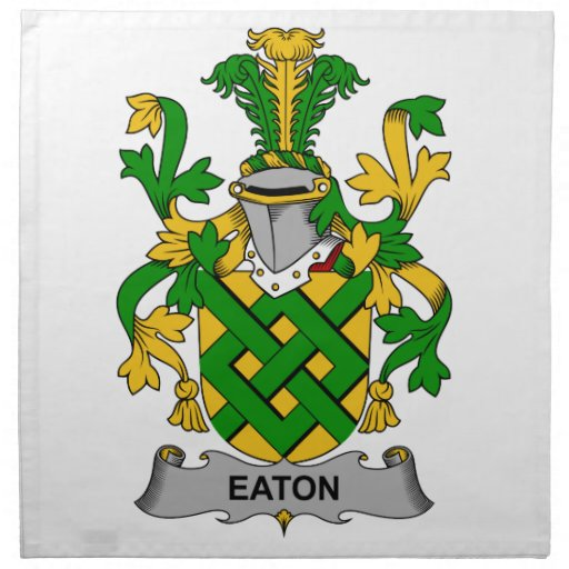 Escudo de la familia de Eaton Servilleta Imprimida