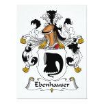 Escudo de la familia de Ebenhauser Invitación 16,5 X 22,2 Cm