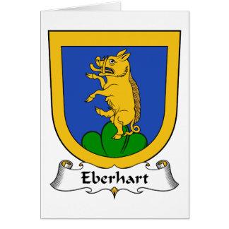 Escudo de la familia de Eberhart Tarjeta De Felicitación