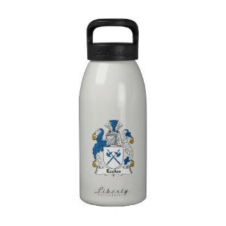 Escudo de la familia de Eccles Botella De Agua