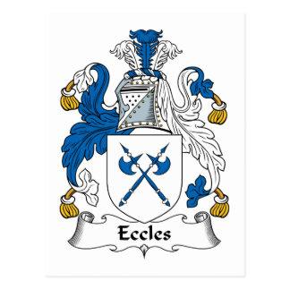 Escudo de la familia de Eccles Postales