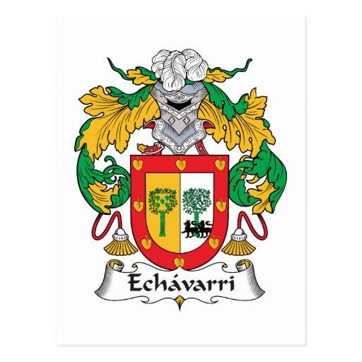 Escudo de la familia de Echavarri Tarjeta Postal