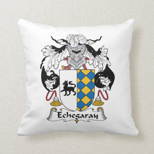 Escudo de la familia de Echegaray Almohada