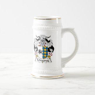 Escudo de la familia de Echegaray Jarra De Cerveza