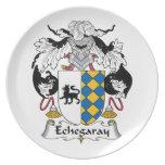Escudo de la familia de Echegaray Platos