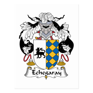 Escudo de la familia de Echegaray Tarjeta Postal