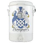 Escudo de la familia de Echingham Enfriador De Bebida Igloo