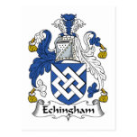 Escudo de la familia de Echingham Postal