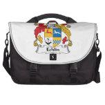 Escudo de la familia de Echlin Bolsas De Ordenador