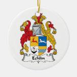 Escudo de la familia de Echlin Ornamento Para Reyes Magos