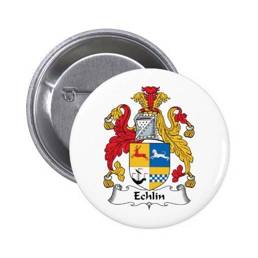 Escudo de la familia de Echlin Pins