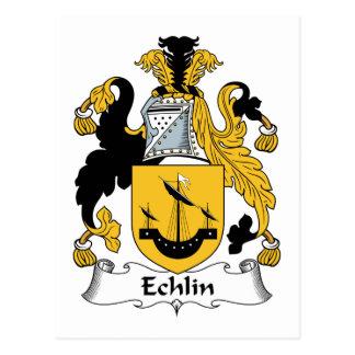 Escudo de la familia de Echlin Postales