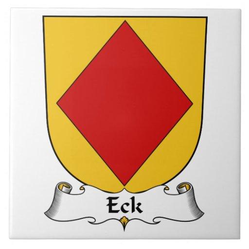 Escudo de la familia de Eck Azulejos Ceramicos