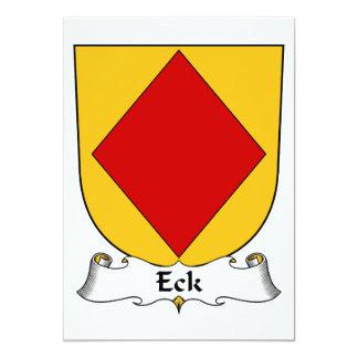 Escudo de la familia de Eck Invitación 12,7 X 17,8 Cm