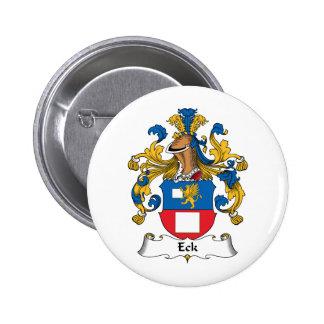 Escudo de la familia de Eck Pin Redondo De 2 Pulgadas